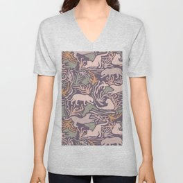 Big Cats and Fishes Unisex V-Neck