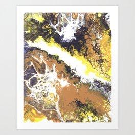 Yellow Cascade Art Print