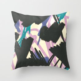 Remote scribbles Throw Pillow