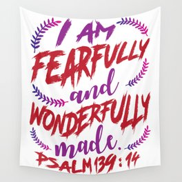 Psalm 139:14 Wall Tapestry