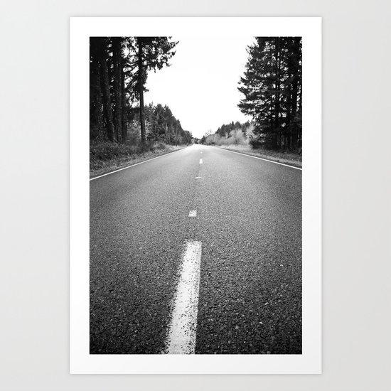 down the road.  Art Print