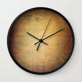 Antique grunge linen texture Wall Clock