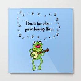 Kermit having fun Metal Print
