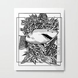 Take Shark Metal Print