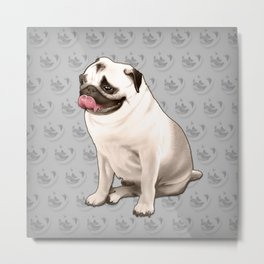 Jake the Pug Metal Print