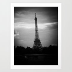 Eiffel Tower After Dark Art Print