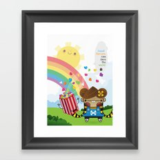 PopCorn can save the world Framed Art Print