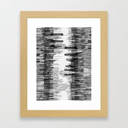 Polyline Distortion Framed Art Print
