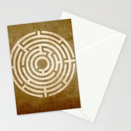 Solving Mazes Gold Stationery Cards