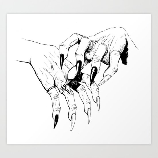 Which Witch Hands Art Print