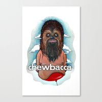 chewbacca Canvas Prints featuring CHEWBACCA by Morbix