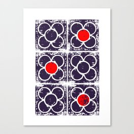 The Rose tile of Barcelona Canvas Print