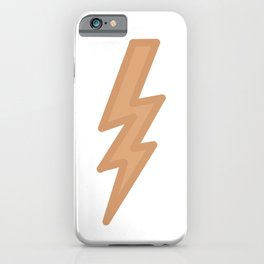 Dark Pastel Lightning (Orange) iPhone Case