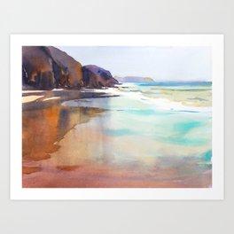 Papagayo Beach Art Print