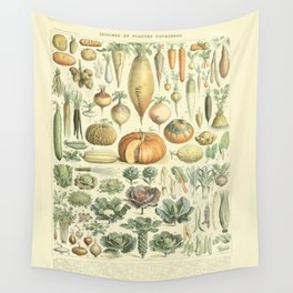 Vegetable Identification Chart Wall Tapestry