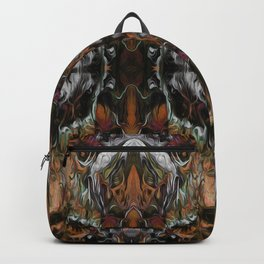 Ornamental Pattern in orange, red and white Backpack