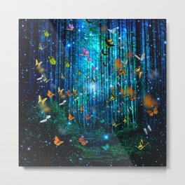 Magical Path Butterflies Metal Print