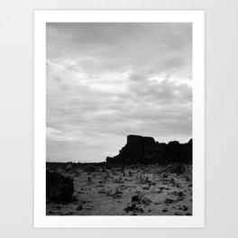 Ruinas B&W Art Print
