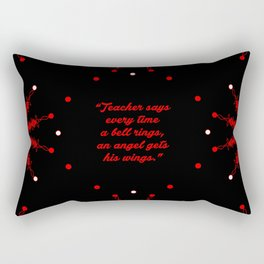 "Teacher Says... ""Zuzu Bailey"" Christmas Quote Rectangular Pillow"