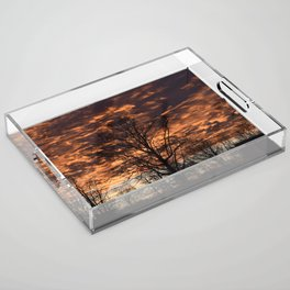Sky on Fire in Tennessee Acrylic Tray