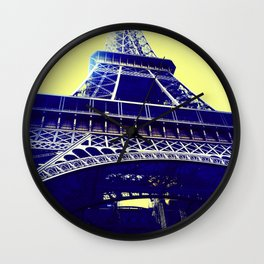 Eiffel Tower Pop Art Wall Clock