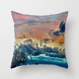Sunset and Storm Throw Pillow
