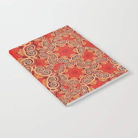 K143 - Red Curls Abstract Notebook