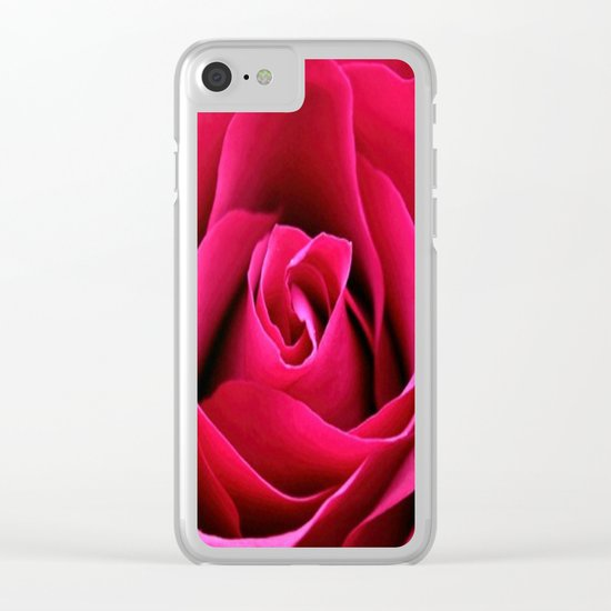 Red Rose Love Clear iPhone Case