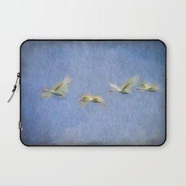 Swans Migrating  Art Laptop Sleeve