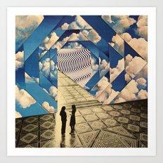 Dimensional clouds Art Print