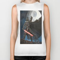 death star Biker Tanks featuring Death Star by Laura-A