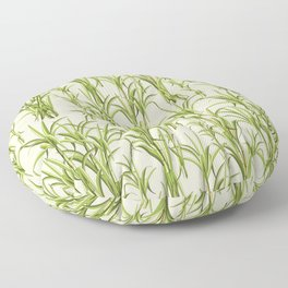 Sugar Cane Exotic Plant Pattern Floor Pillow
