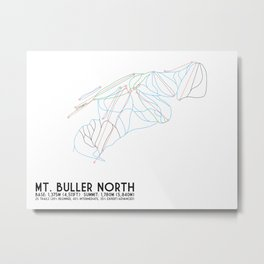 Mt. Buller Northern Exposure, Victoria, Australia - Minimalist Trail Art Metal Print