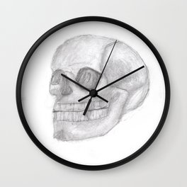 Death Skull (original work of 8yr old boy) Wall Clock