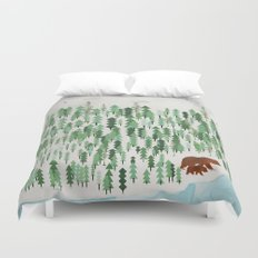 the green forest Duvet Cover