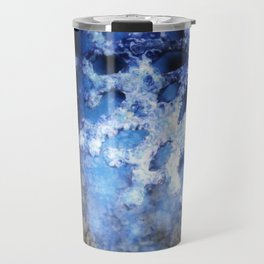 snowflake in blue 8 Travel Mug