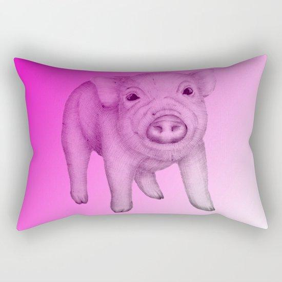Piggy in Pink Rectangular Pillow