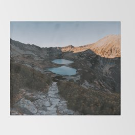 Mountain Ponds - Landscape and Nature Photography Throw Blanket
