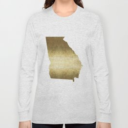 Georgia Gold Foil Map Long Sleeve T-shirt