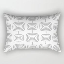 Mid Century Modern Atomic Rings Pattern Gray 3 Rectangular Pillow
