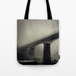 Bridge in the Mist Tote Bag