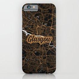 Glasgow   Scotland - Minimalist City Map iPhone Case