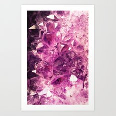 Purple Mineral - for iphone Art Print