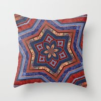 patriotic Throw Pillows featuring Patriotic Star by Durin Eberhart