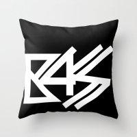 bass Throw Pillows featuring BASS by DropBass