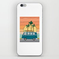 vw bus iPhone & iPod Skins featuring VW Bus by Sydney Peirce