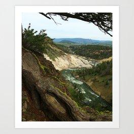 Yellowstone River View Art Print