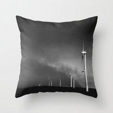 Campo de vientos Throw Pillow