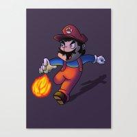 mario Canvas Prints featuring Mario by DROIDMONKEY