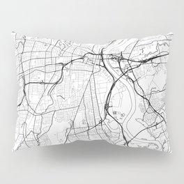 Hartford Map White Pillow Sham